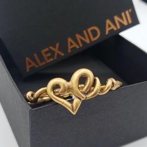 NWT Alex and Ani Heart Wrap Bangle RG